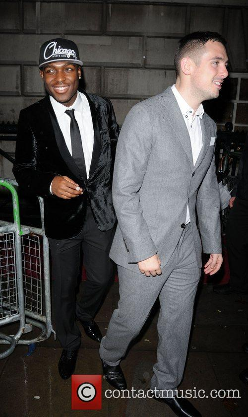 Derry Mensah and Charlie Healy leaving the Cosmopolitan...