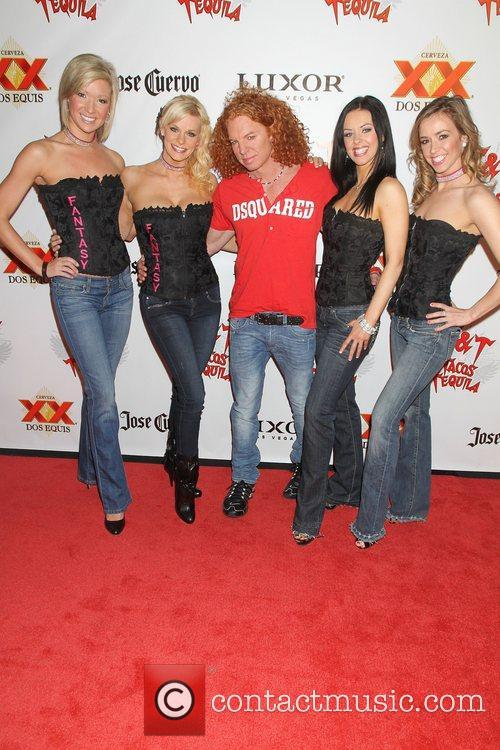 Carrot Top with girls of the show 'Fantasy'...