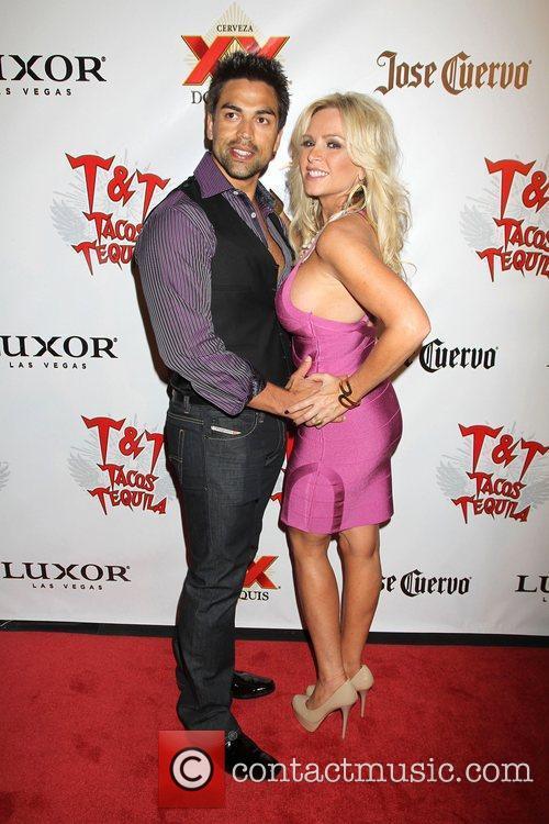 Eddie Judge, Tamra Barney arrive at 'Cougars And...