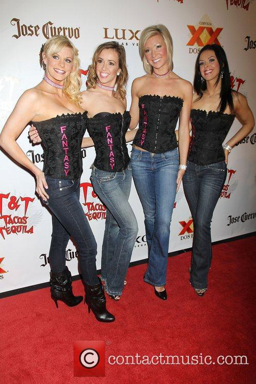 Girls of the show 'Fantasy' arrive at 'Cougars...