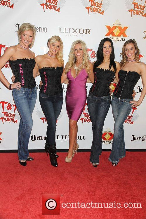 Tamra Barney with girls of the show 'Fantasy'...