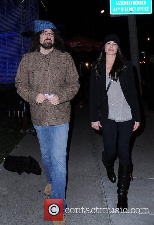 Adam Duritz from the band Counting Crows and...