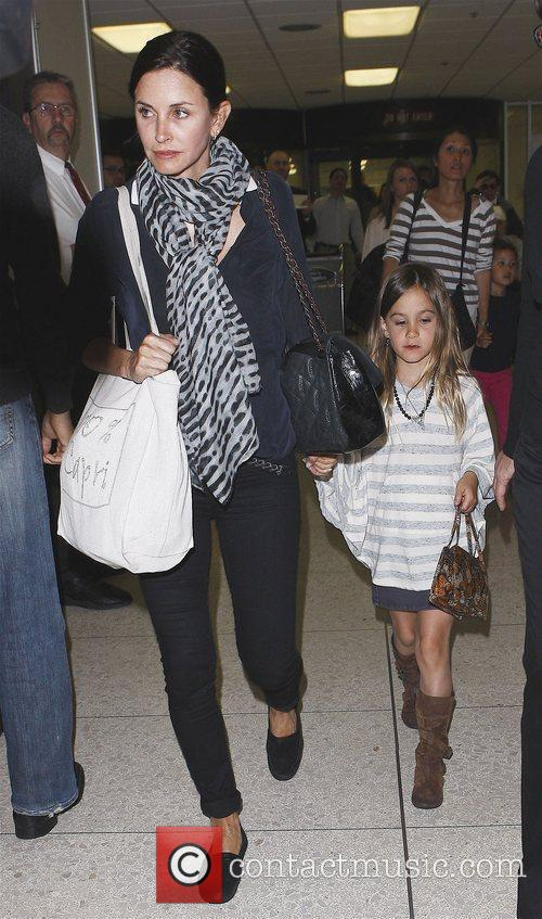 Courteney Cox and her daughter Coco arrive at...