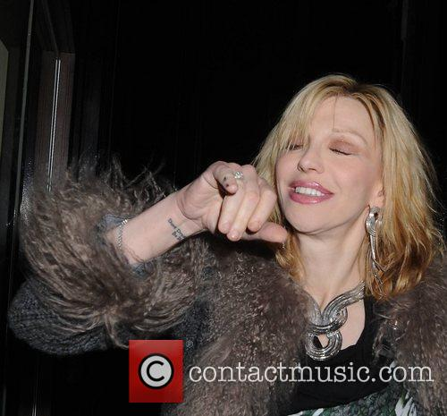Courtney Love is presented with an honorary patronage...