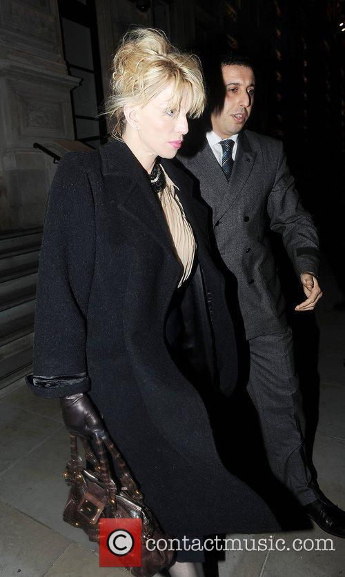Courtney Love leaving her hotel