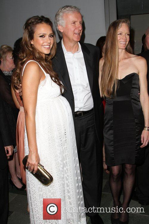 Jessica Alba, James Cameron and Suzy Amis 2