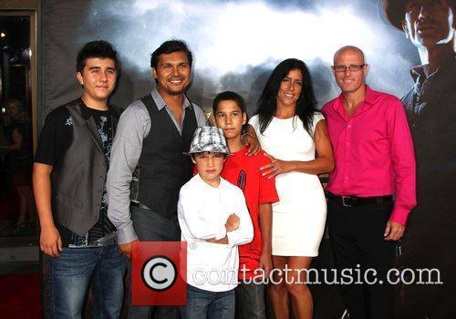 Adam Beach Family  'Cowboys and Aliens' premiere...