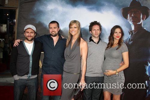 Actors Charlie Day, Rob McElhenney, Kaitlin Olson, Glenn...