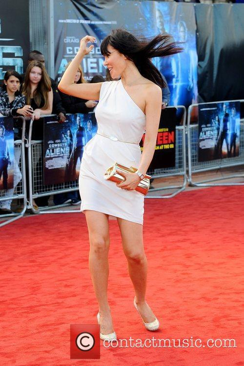 Linzi Stoppard Cowboys & Aliens premiere held at...