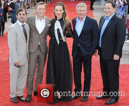 Daniel Craig, Harrison Ford, Jon Favreau and Olivia Wilde 7