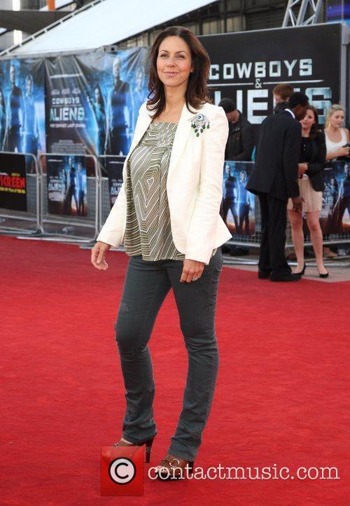 The UK premiere of 'Cowboys & Aliens' held...
