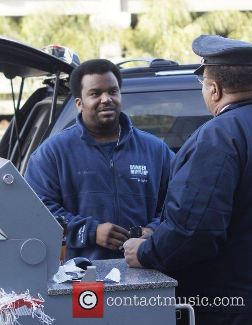 Pineapple Express actor Craig Robinson arriving at LAX