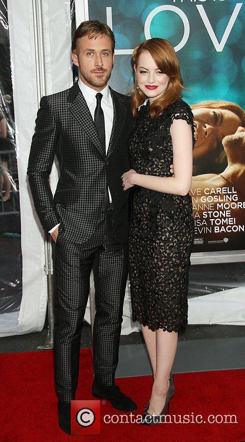 Ryan Gosling and Emma Stone at the world premiere of Crazy, Stupid, Love