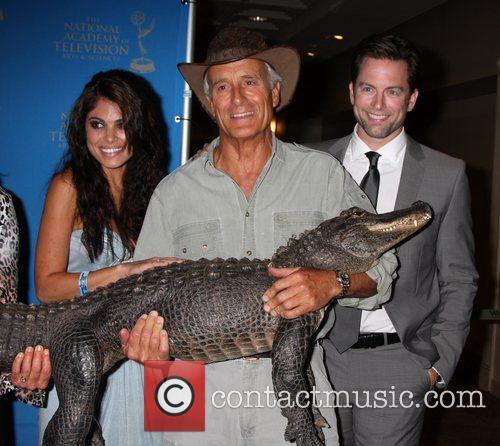 Lindsay Hartley, Jack Hanna, Baby Alligator, and Michael...