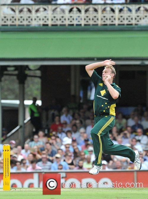 Doug Bollinger Bowls One Day International cricket series...