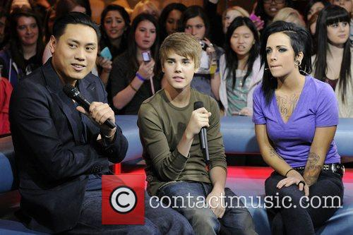 Director Jon Chu, Justin Bieber, and host Phoebe...