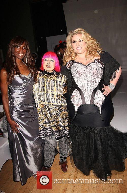 Angel, Zandra Rhodes and model Curves in Couture...