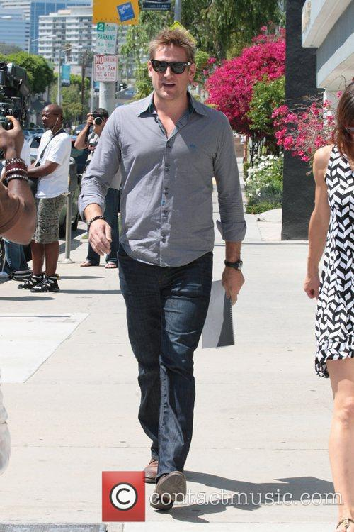 Curtis Stone out shopping in West Hollywood Los...