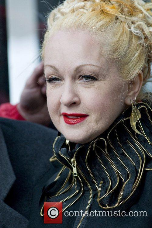 Cyndi Lauper at the ribbon cutting ceremony for...