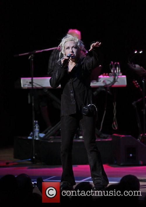 Cyndi Lauper performing at Manchester Bridgewater Hall Manchester,...