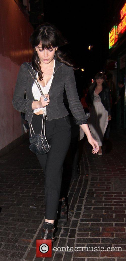 Daisy Lowe seen leaving the Box Club in...