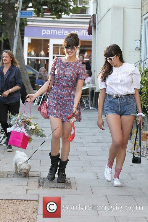 Daisy Lowe out and about in Primrose Hill...