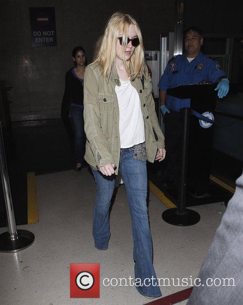 Dakota Fanning arriving at LAX  Los Angeles,...