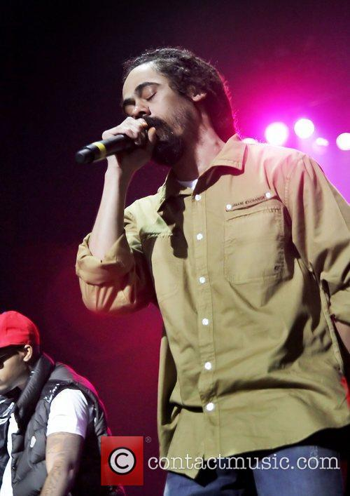 Damian Marley performing at Manchester O2 Apollo Theatre...