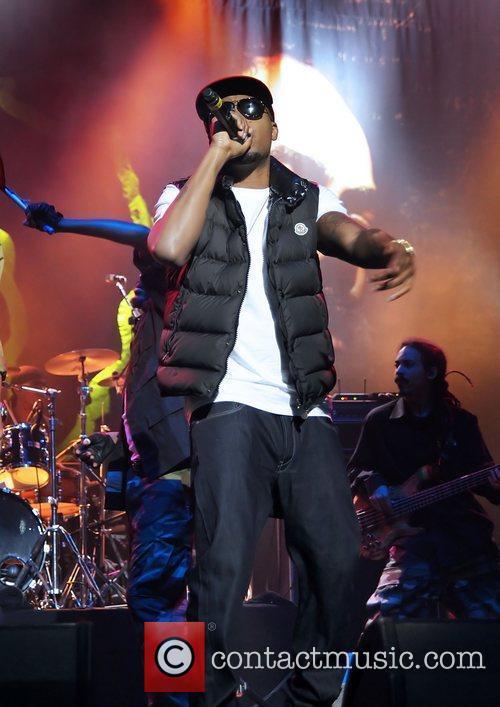 Nas performing at Manchester O2 Apollo Theatre Manchetser,...