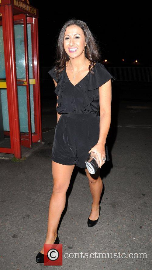 Hayley Tammaden arriving for the Dancing on Ice...
