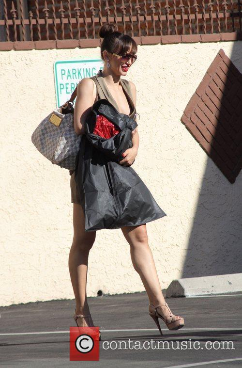 Karina Smirnoff  leaving rehearsals for 'Dancing With...