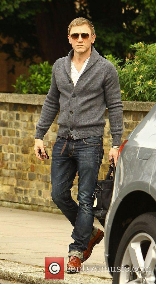 Daniel Craig on his way to a photoshoot...