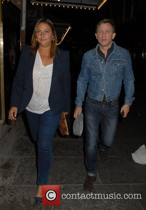 Wearing a denim jacket as he leaves J...