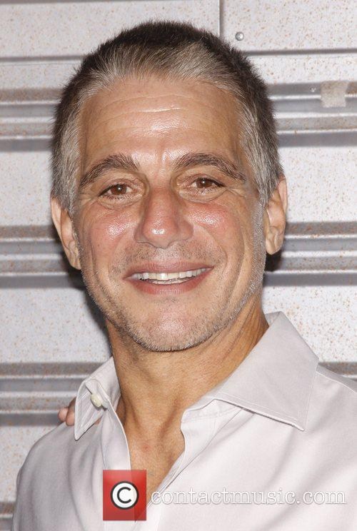 Tony Danza visits the cast of the Broadway...