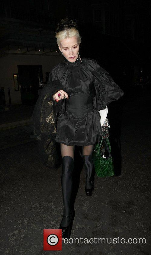 Daphne Guinnes leaving Scotts Restaurant London, England