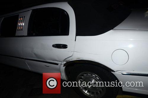 Damage to Dappys Entourages Car  celebrities arrive...