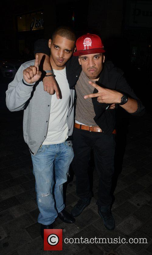 Celebrities arrive at Movida to celebrate Dappy's (real...