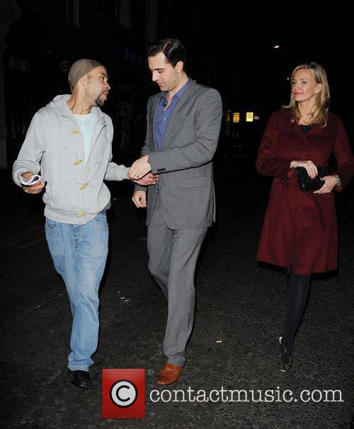 Darius Campbell and Natasha Henstridge out and about...