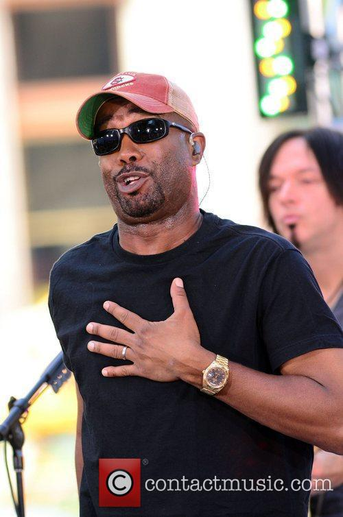 Darius Rucker performing on CBS' 'Early Show' as...