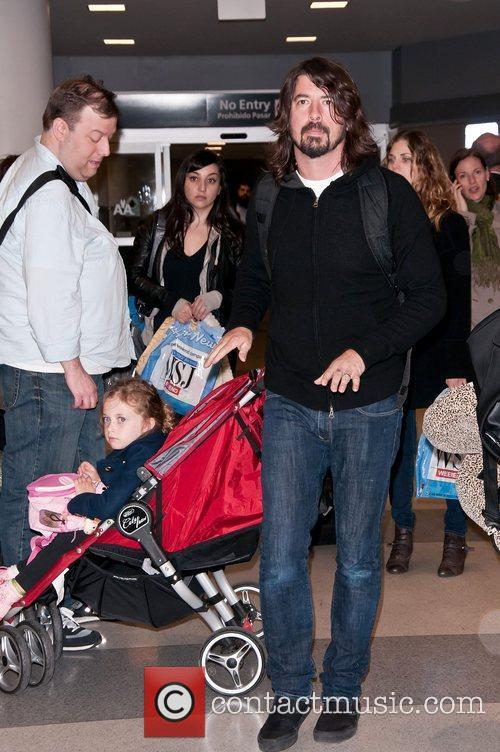 Dave Grohl of The Foo Fighters arrives at...