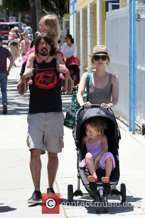 Rocker Dave Grohl and his family visit the...