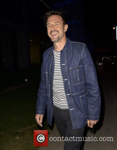 David Arquette arriving at Boa Steakhouse to have...