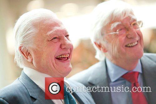 Sir Michael Parkinson and Sir David Attenborough Sir...