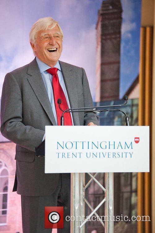 Sir Michael Parkinson Sir David Attenborough officially opens...