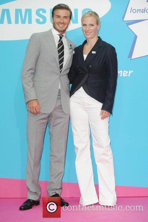 David Beckham and Zara Phillips 3