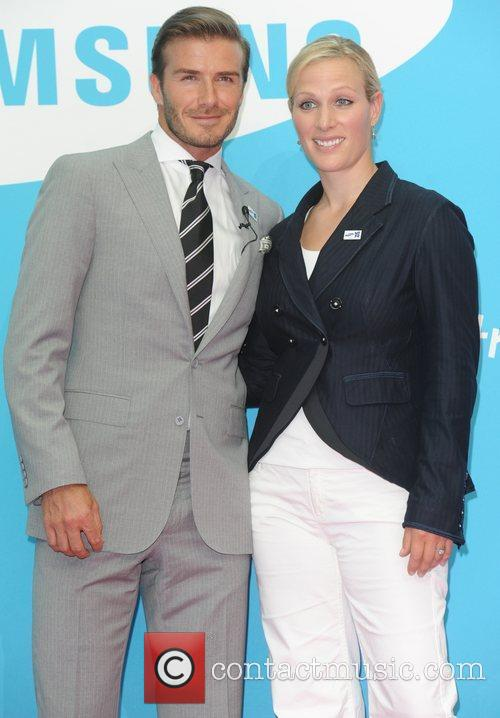 David Beckham and Zara Phillips 5