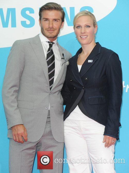 David Beckham and Zara Phillips 4