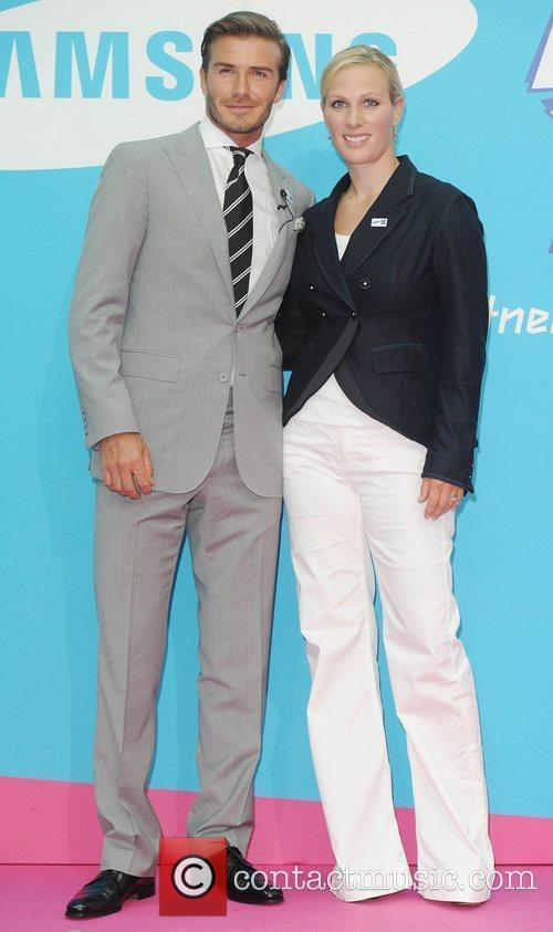 David Beckham and Zara Phillips 2