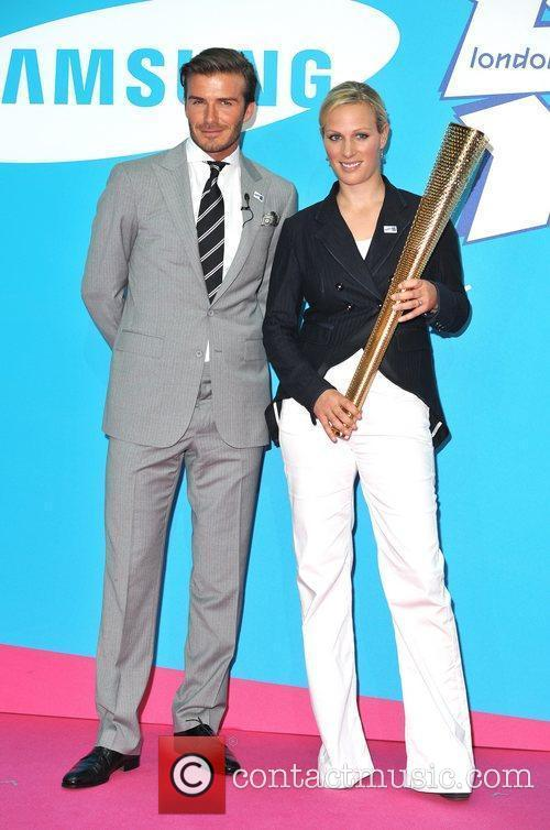 David Beckham and Zara Phillips 7