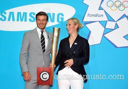 David Beckham and Zara Phillips 7